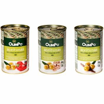 Aceitunas verdes rellenas varios sabores lata
